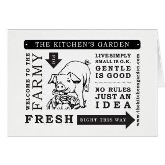 Farming Card, Greeting Card