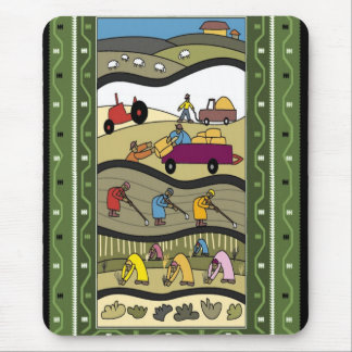 Farming in Africa Mouse Mat