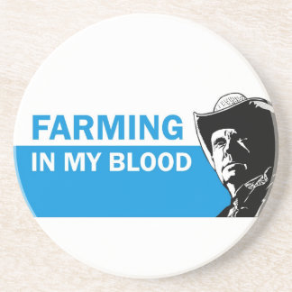 Farming in my blood, gift for a farmer or rancher coasters