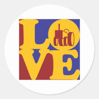 Farming Love Round Sticker