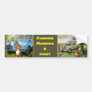 Farming Morning & Night Bumper Sticker