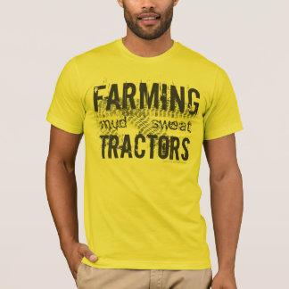 Farming, Mud, Sweat, Tractors, Tire track T-Shirt