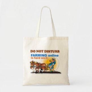 """Farming Online is Hard Work"" Tote Bag"