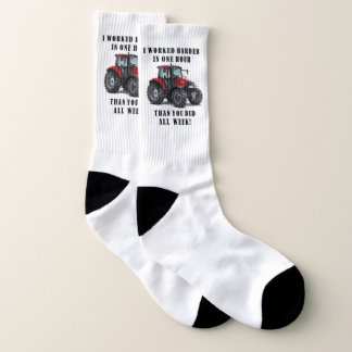 Farming Quote Tractor Socks 1