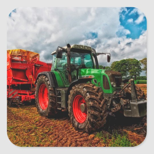 Farming Tractor Photo Sticker