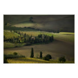 Farmland around Montepulciano, Tuscany, Italy Poster