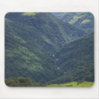 Farmlands and Himalaya forest in Mangdue valley Mouse Pad