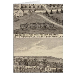 Farms and creamery, Salem and Bristol Tp Card