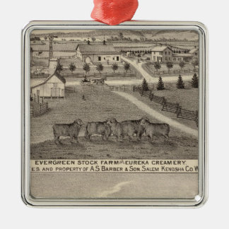 Farms and creamery, Salem and Bristol Tp Christmas Ornament
