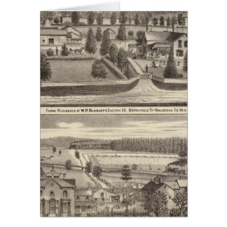 Farms and residences of WR Blodgett & GC Daubner Card