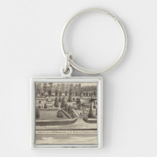 Farms and residences of WR Blodgett & GC Daubner Key Ring