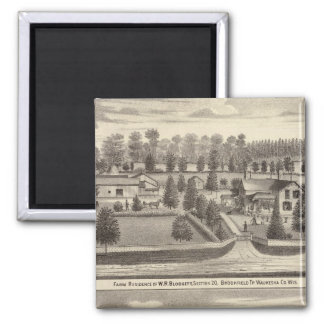 Farms and residences of WR Blodgett & GC Daubner Magnet