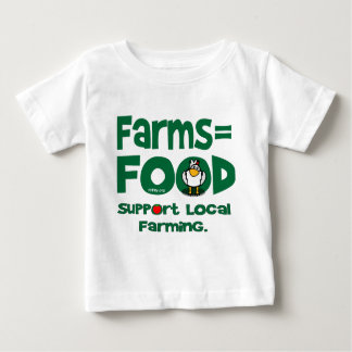 Farms=Food Baby T-Shirt