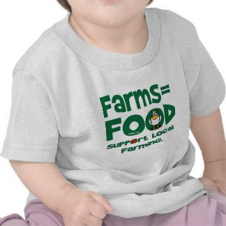 Farms=Food Tshirts