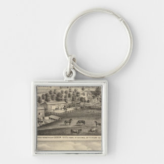 Farms of G Ives, Oakland, and A Wheeler, Pewaukee Key Ring