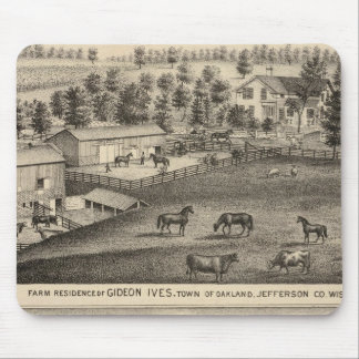 Farms of G Ives, Oakland, and A Wheeler, Pewaukee Mouse Mat