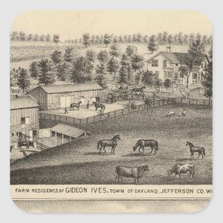 Farms of G Ives, Oakland, and A Wheeler, Pewaukee Square Sticker
