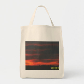 Farms Plains Reveal Natural Sunset Grocery Tote Bag