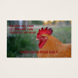 FARMSTYLE ROOSTER BUSINESS CARDS
