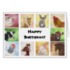 Farmyard animals birthday card