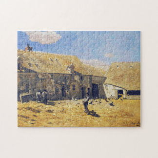 Farmyard At Chailly Monet Fine Art Puzzle