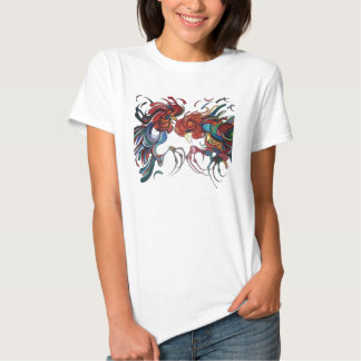 Farmyard Roosters T-shirt