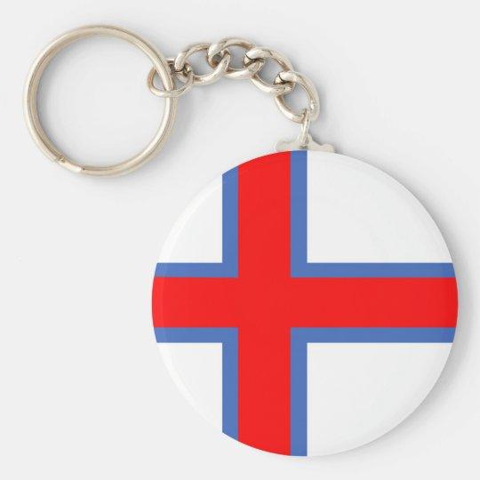faroe island country flag long symbol key ring