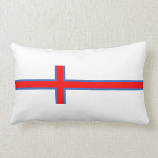 faroe island country flag long symbol lumbar cushion
