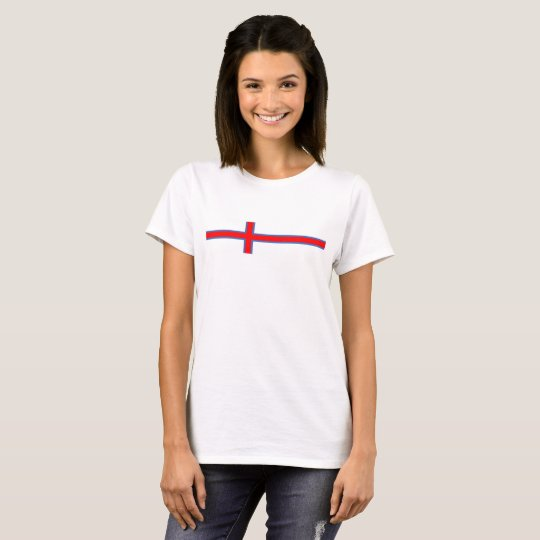 faroe island country flag long symbol T-Shirt