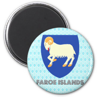 Faroe Islands Coat of Arms 6 Cm Round Magnet