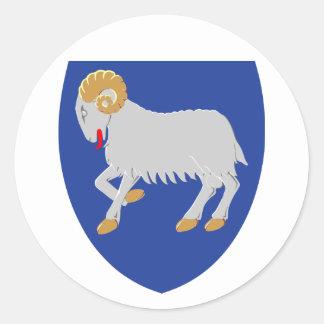 Faroe Islands Coat of arms FO Classic Round Sticker