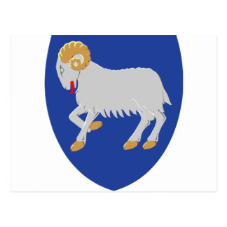 Faroe Islands Coat of arms FO Postcard