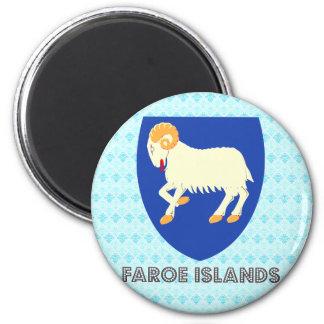 Faroe Islands Coat of Arms 6 Cm Round Magnet
