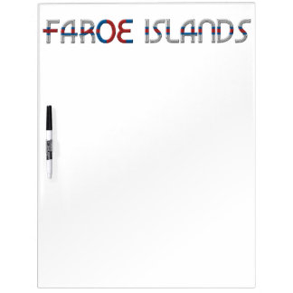Faroe Islands Flag Colors Typography Dry Erase Board