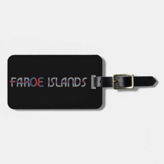 Faroe Islands Flag Colors Typography Luggage Tag