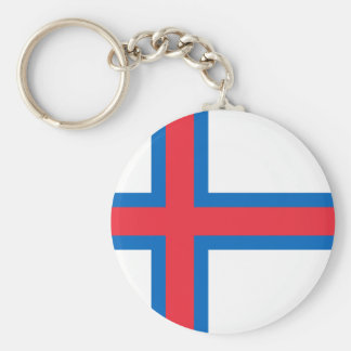 Faroe Islands Flag FO Key Ring