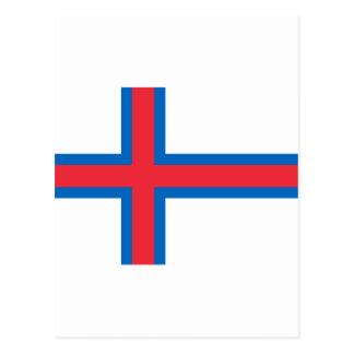 Faroe Islands Flag FO Postcard