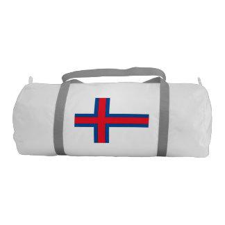 Faroe Islands Flag Gym Duffel Bag