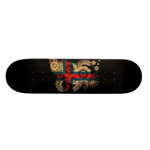Faroe Islands Flag Skateboard Deck