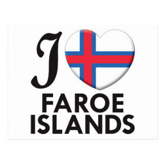 Faroe Islands Love Postcard