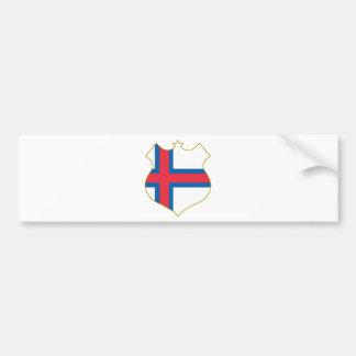 Faroe-islands-shield.png Bumper Sticker