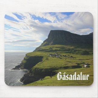Faroese Village of Gásadalur: Mousepad