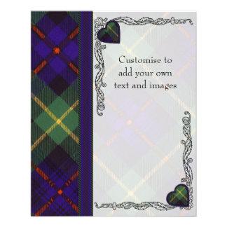 Farquarson clan Plaid Scottish tartan 11.5 Cm X 14 Cm Flyer