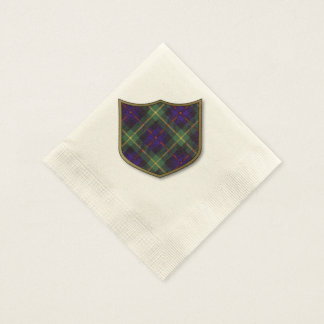 Farquarson clan Plaid Scottish tartan Disposable Serviette