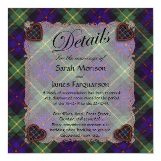 Farquarson Scottish clan tartan - Plaid 13 Cm X 13 Cm Square Invitation Card