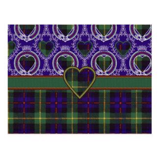 Farquarson Scottish Tartan Postcard