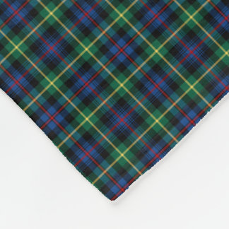 Farquharson Clan Blue, Green and Black Tartan Fleece Blanket