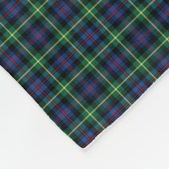 Farquharson Clan Blue, Green and Black Tartan Fleece