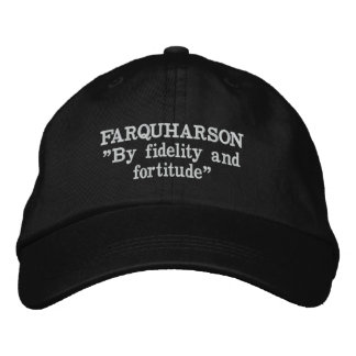 Farquharson Clan Motto Embroidered Hat