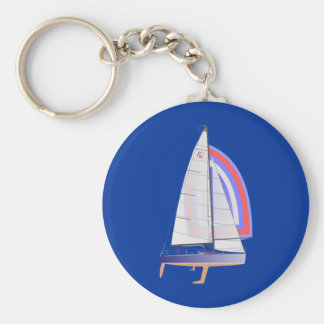 Farr 30 One Design Racing Sailboat Key Ring